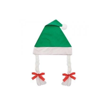 Cappello Natale con Trecce Verde
