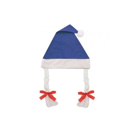 Cappello Natale con Trecce Blu