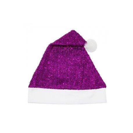 Cappello Natale Viola Glitterato