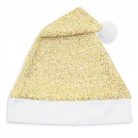 Cappello Natale Oro Glitterato