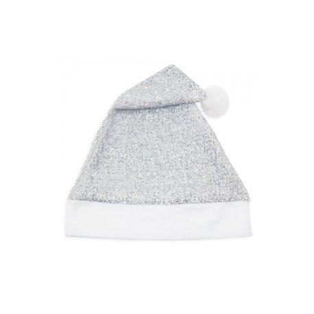 Cappello Natale Argento Glitterato